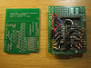 new bare pcb vs. the prototype board