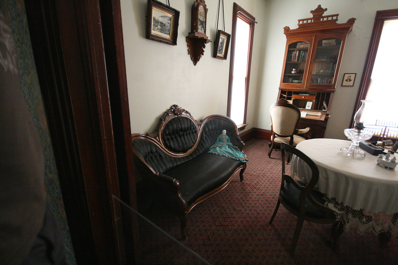 interior of one victorian house in the Old Cowtown Museum in Wichita, KS