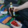 beer and strawberries