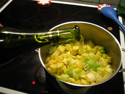 add white wine