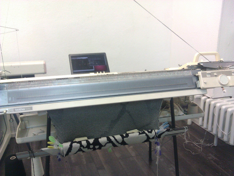 command line and a knitting machine