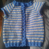 baby sweater in grey blue